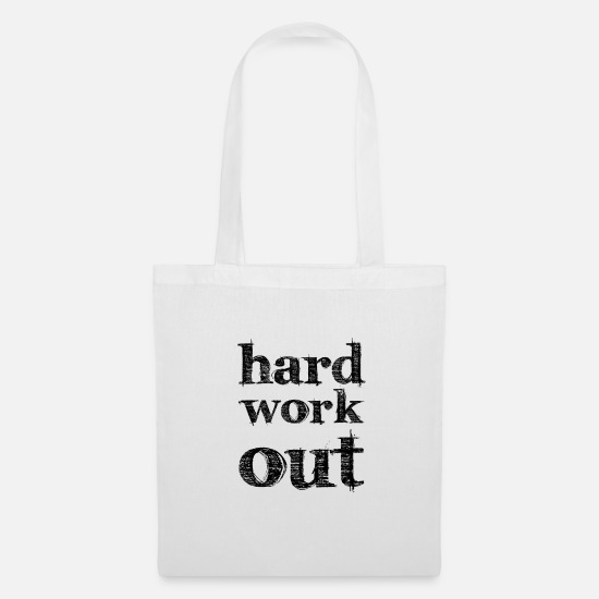 Studio Bags & Backpacks - hard work out - Tote Bag white