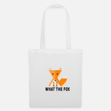 Officialbrands what the fox - fuchs - flat design - Torba materiałowa