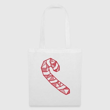 Candy Cane Christmas Gift Geometric - Tote Bag