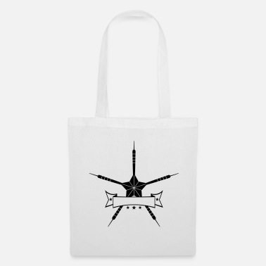 Shape text banner box star shape club logo play there - Tote Bag