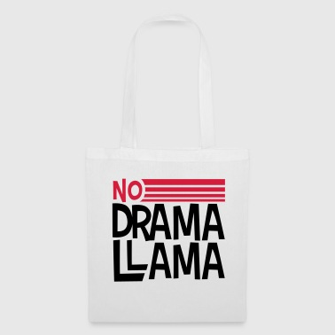 testo logo no dramma lama party cool festeggiare c - Borsa di stoffa
