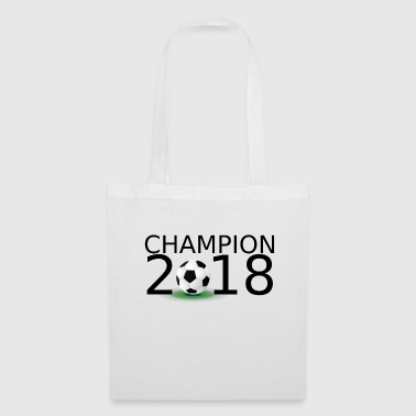 Soccer Champion 2018 lettering black - Tote Bag