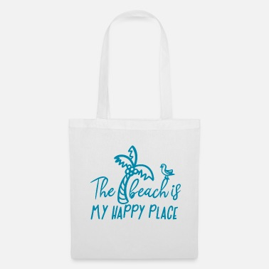 Beachy BeachIs My Happy Place - Tote Bag