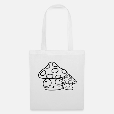 Hunger child mom dad baby family fly agaric red dots - Tote Bag