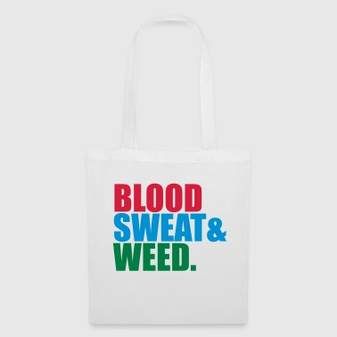 weed hemp joint drugs smoking blood sweat sting - Tote Bag