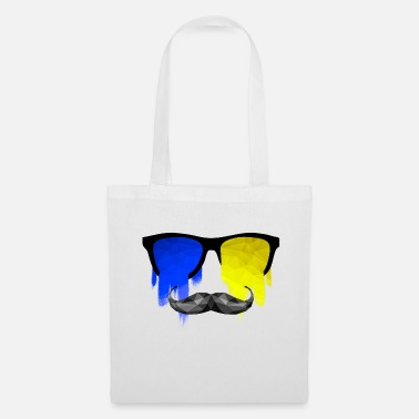 Triangle Sunglasses Schnauz Poly Design - Tote Bag