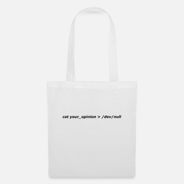 Null cat your_opinion> / dev / null - Tote Bag
