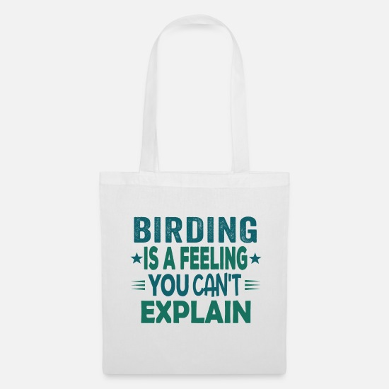 Love Bags & Backpacks - Funny Funny Bird Watcher Birding Gift Idea - Tote Bag white