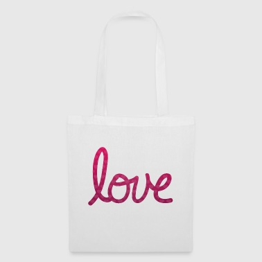 Love Typography lettering - Tote Bag