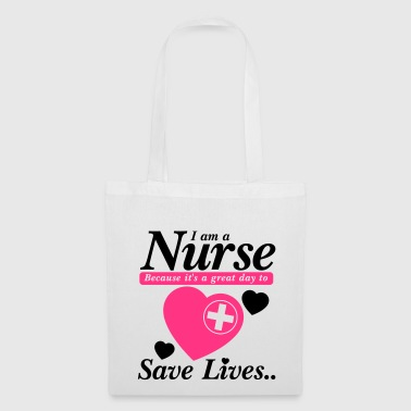 Nurse Save Lives Black Pink - Borsa di stoffa