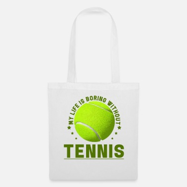 Volley Tennis player tennis ball tennis racket gift - Tote Bag