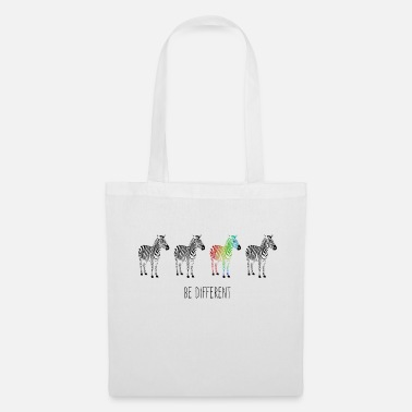 Zebra rainbow be different - Tote Bag