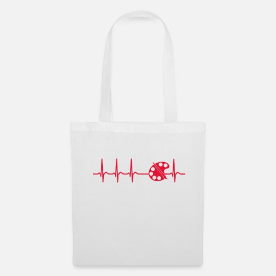 Birthday Bags & Backpacks - Heart stroke painting artist brush cool gift - Tote Bag white