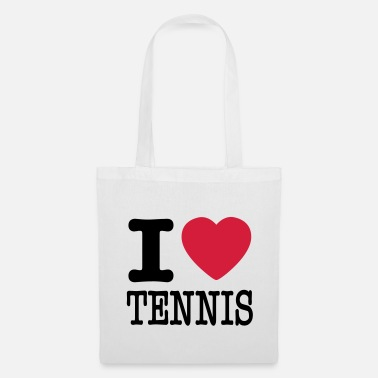I Love Tennis i love tennis - Tote Bag