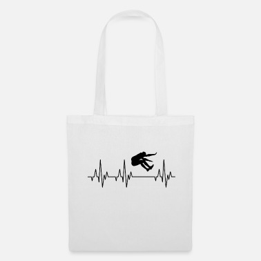 Long Jump Heartbeat ECG long jump long jump athlete - Tote Bag