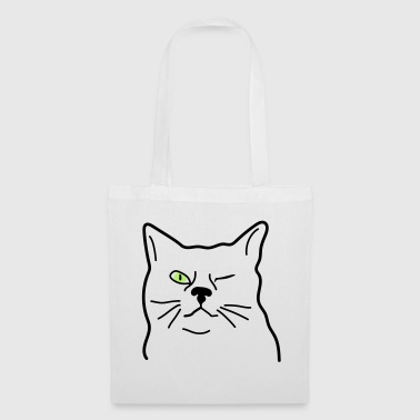 clin d'oeil de chat - Tote Bag