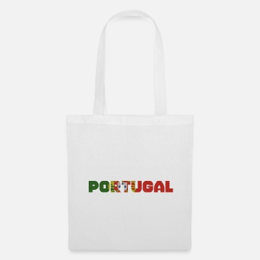 Writing Lettrage de modèle de drapeau du Portugal - Tote Bag