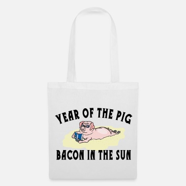 Chinese Year Of The Pig Bacon IN The Sun - Tote Bag