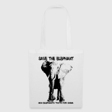 Save the elephant - Stoffbeutel