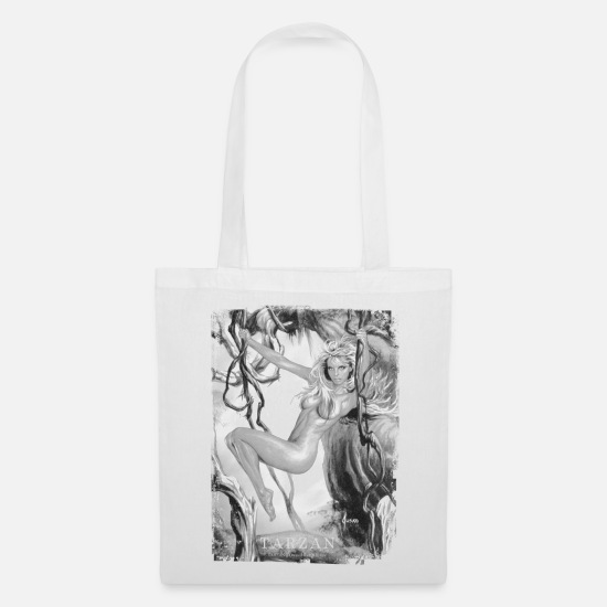 Tarzan Bags & Backpacks - Tarzan 'Jane in the jungle' - Tote Bag white