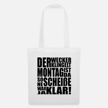 Ironie Lundi humour cadeau de stress de motivation - Tote Bag