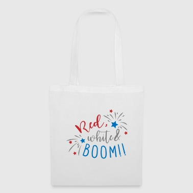 Red, white & boom! - FIREWORK - Tote Bag