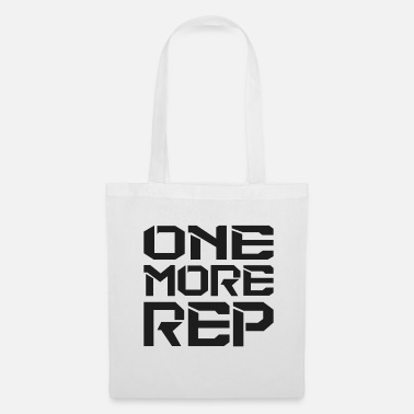 One More Rep - Fitness Motivation Weightlifter - Tote Bag