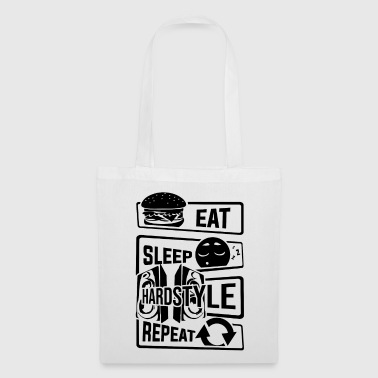 Bass Eat Sleep Hardstyle Repeat - Bass Party Dancing - Tote Bag