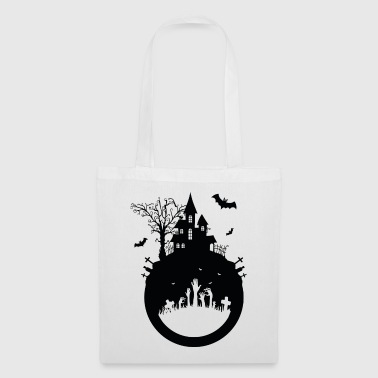 Haunted House - Halloween Design - Stoffbeutel