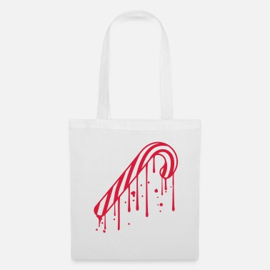 Stamp drop graffiti melt stamp candy cane le - Tote Bag