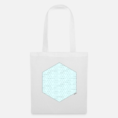 Animo Turquoise hexagon - Tote Bag