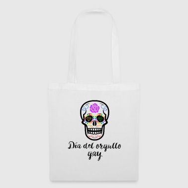 LGBT Sugar Skull Reverse Gay Pride - Tote Bag