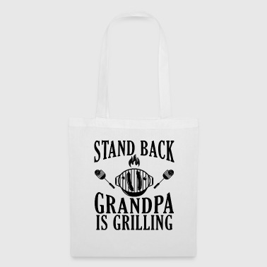 Better go away Grandpa is on barbecue - Tote Bag