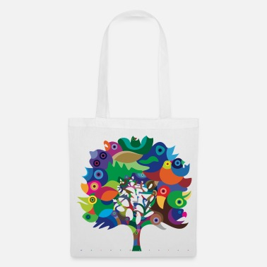 Couleur Overbirded arbre - Tote Bag