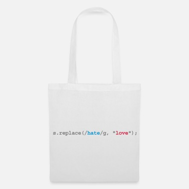 Geek replace hate with love - Borsa di stoffa