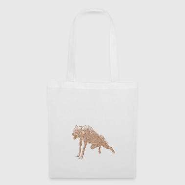 Aggressive Wolf - Tote Bag