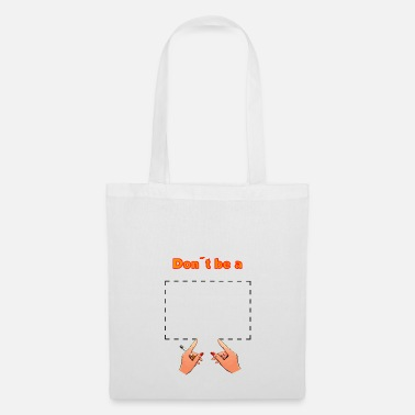 Tarantino Don't be a square! Pulp Fiction - movie quote - Tote Bag