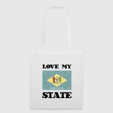 Delaware State Flag Tee Shirt - Tote Bag