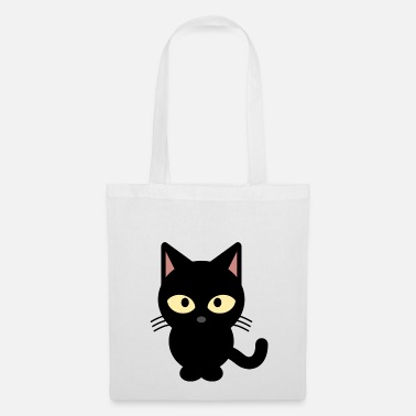 Noir Shirt de chat noir - Tote Bag