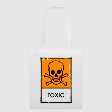 Punk. Skull chemical danger. Toxic or poisonous - Tote Bag