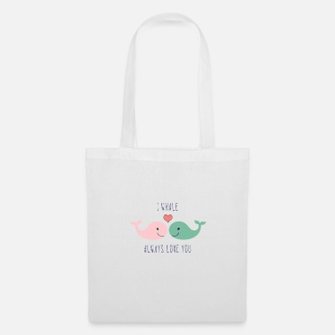 Lovely Cute whales love in love saying love gift couple - Tote Bag