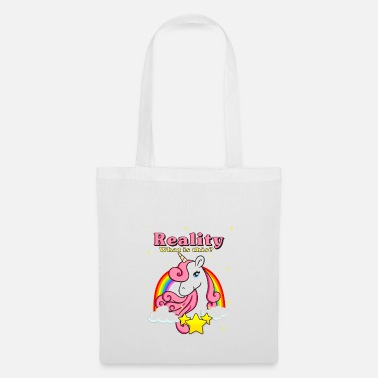 Unicorno regalo stella Unicorn Rainbow Clouds - Borsa di stoffa