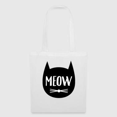 MEOW (Cat Silhouette) - Tote Bag
