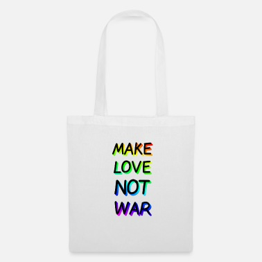 Make Love Not War Make Love not War Rainbow - Borsa di stoffa