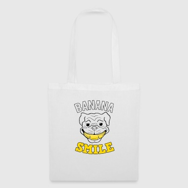 Cadeau Bulldog de Banana Smile Laugh Dog - Tote Bag
