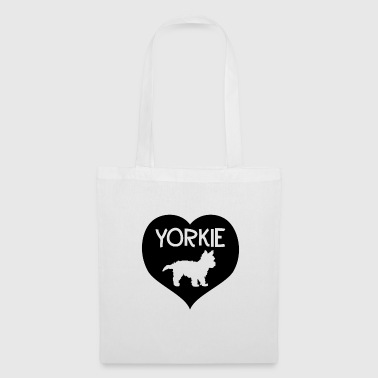 Yorkie in the heart - Tote Bag