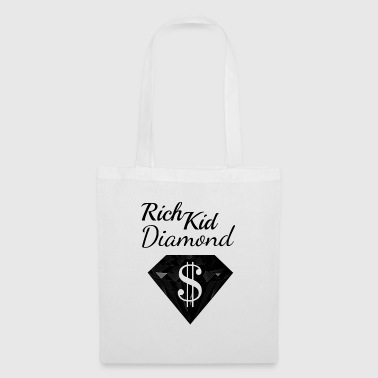 Diamond Dollar Sign Rich Black Wealthy - Tote Bag