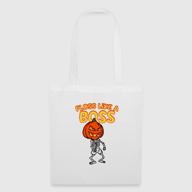Floss Like A Boss Skeleton With Zucca di Halloween - Borsa di stoffa