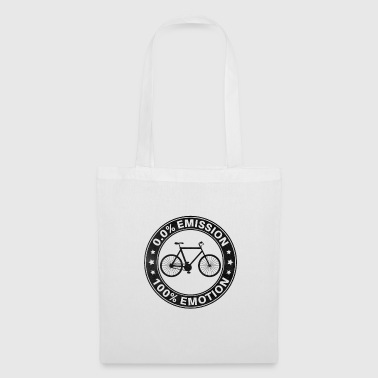 0% Emission 100% Emotion Funny Bicycle Shirt - Tote Bag