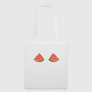 Funny Watermelon Boobs T-Shirt, Fruit Boobs - Torba materiałowa
